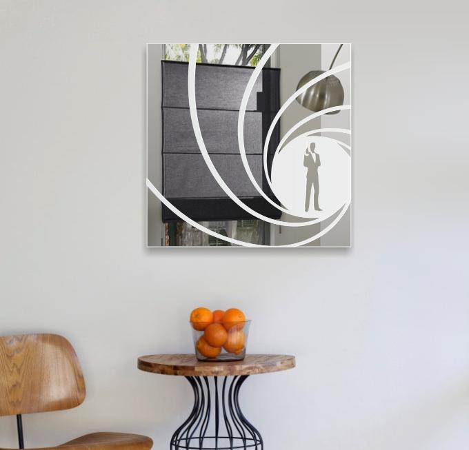 James bond 007 motivspiegel glasgravur dvd bluray film deko spiegel poster bar ebay - James bond deko ...