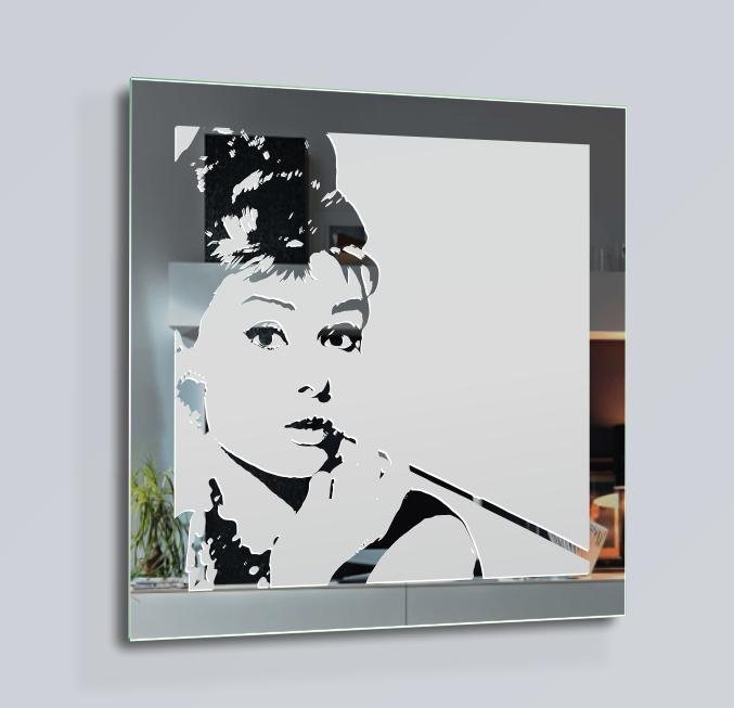 Audrey hepburn espejo motivo decoraci n cuadro cartel de - Audrey hepburn cuadros ...
