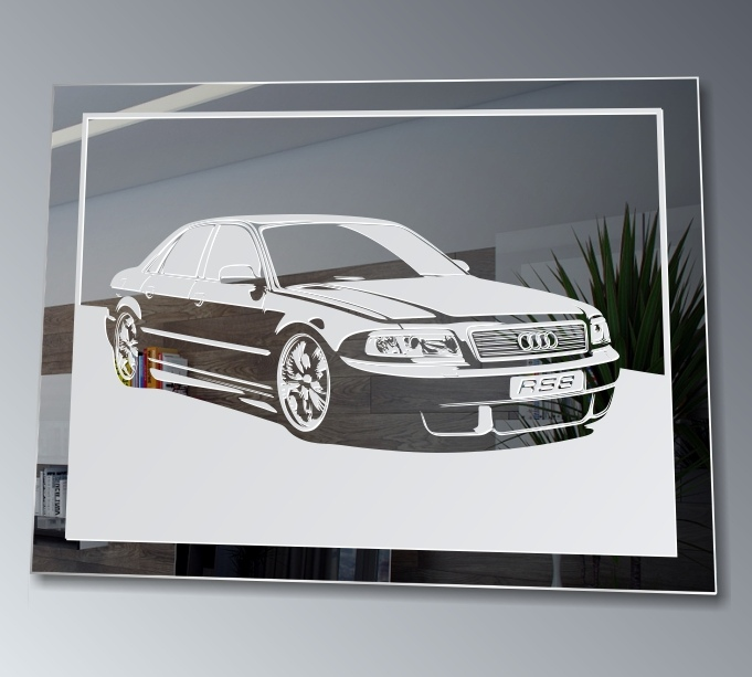 motif de miroir a8 tuning rs8 automobile affiche audi d co image pi ce unique ebay. Black Bedroom Furniture Sets. Home Design Ideas