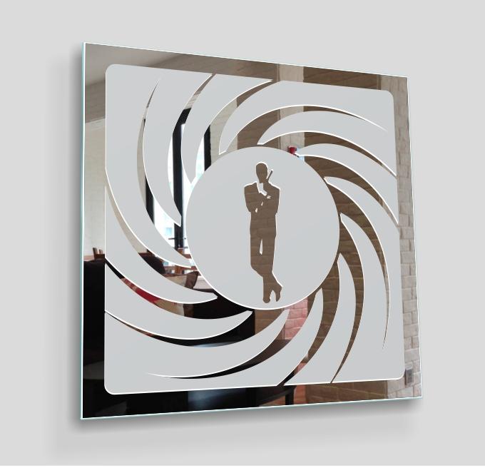 007 james bond motivspiegel spiegel design deko duft bild art film poster dvd ebay - James bond deko ...